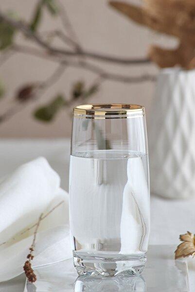 LAV Adora Gold Çizgili 6 Parça Meşrubat Bardağı
