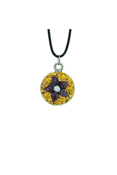 Emotion Handmade Doğal Taş Mozaik Çiçek Kolye N1070
