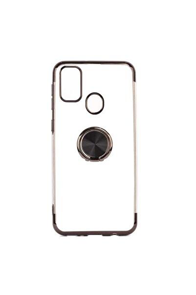 Samsung Galaxy M31 Kılıf 4 Köşe Renkli Yüzüklü Gess Silikon+cam Ekran Koruyucu