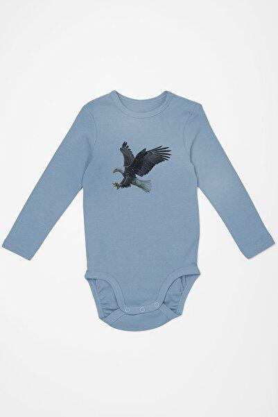 Angemiel Baby Şahin Erkek Bebek Uzun Kollu Zıbın Mavi
