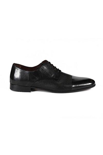 Sofia Baldi Arnolfo Siyah Deri Erkek Klasik Ayakkabı