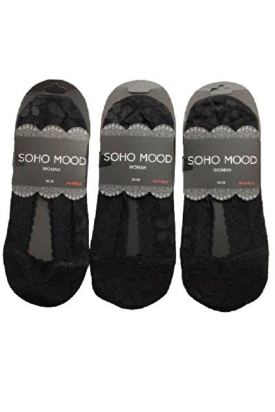 Paktaş Soho Mood 3 lü Dantelli Kadın Suba Babet Çorap 2463-7