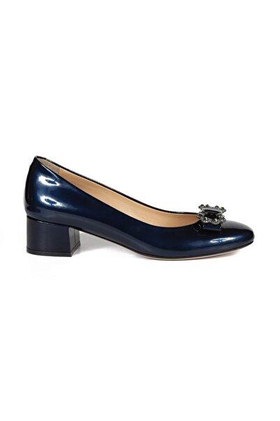 Sofia Baldi Kadın Sean Lacivert Rugan Taşlı Topuklu Ayakkabı