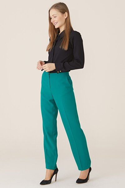 Nihan Kadın Su Yeşili Dar Paça Pantolon X5039