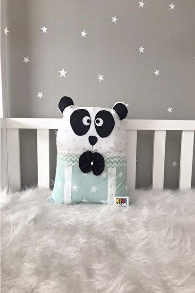 Jaju Baby Kidimoon Mint Yıldız Panda Beşik Koruma Dekor Yastık