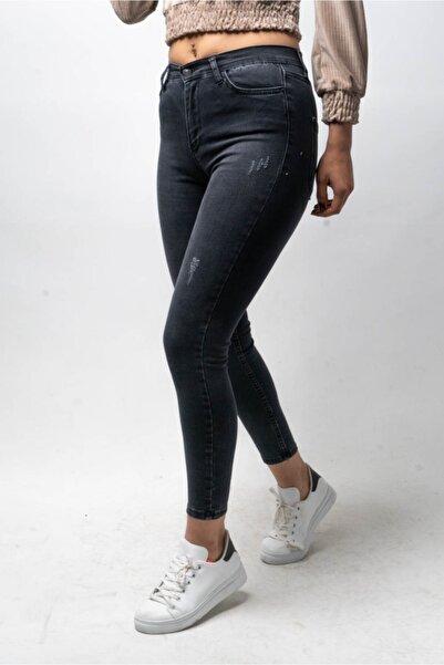 CNS Kadın Mavi Yüksek Bel Pantolon