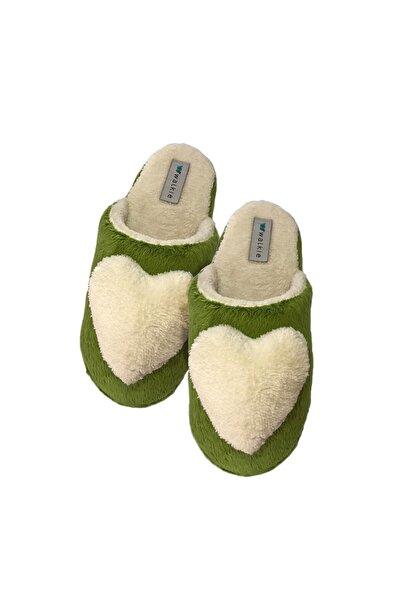 walkie Love Yeşil Kadın Ev Terliği