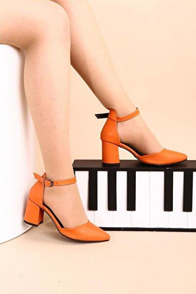 Hepfit Turuncu Kadın Topuklu Ayakkabı 1942-74-1604