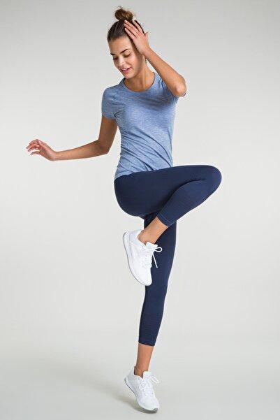 Kadın T-Shirt - Pasto T-Shirt Mavi - 747157