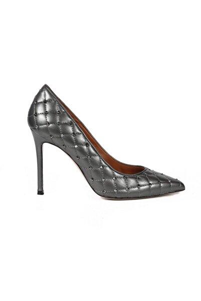 Sofia Baldi Blanca Sedefli Gri Deri Pimli Kadın Stiletto & Abiye Ayakkabı