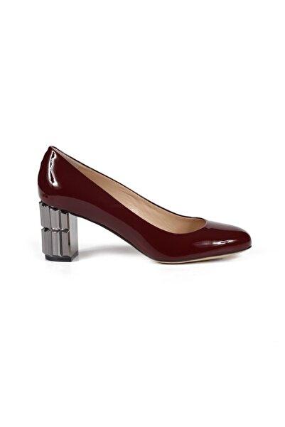 Sofia Baldi Kadın Desire Bordo Rugan  Topuklu Ayakkabı
