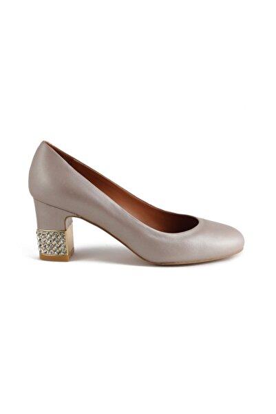 Sofia Baldi Kadın Maura Sedefli Bronz Deri Taşlı  Topuklu Ayakkabı