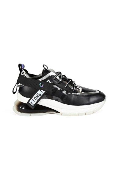 Sofia Baldi Kadın Nerea Siyah Kumaş Pimli Spor Ayakkabı