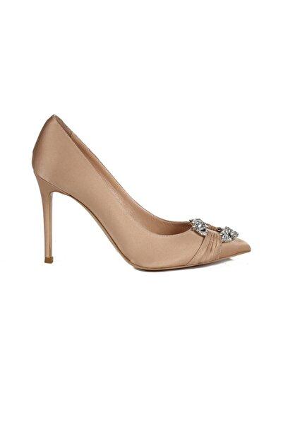 Sofia Baldi Agizia Bakır Saten Taşlı Kadın Stiletto & Abiye Ayakkabı