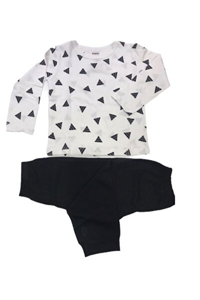 Bücürük Pijama Takımı Beyaz-siyah