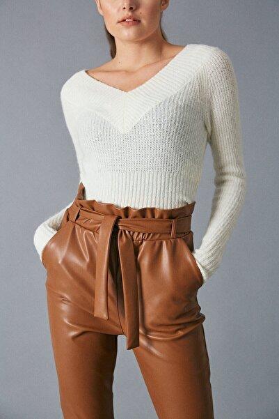 Robin Kadın Taba Deri Pantolon Taba D83333-130