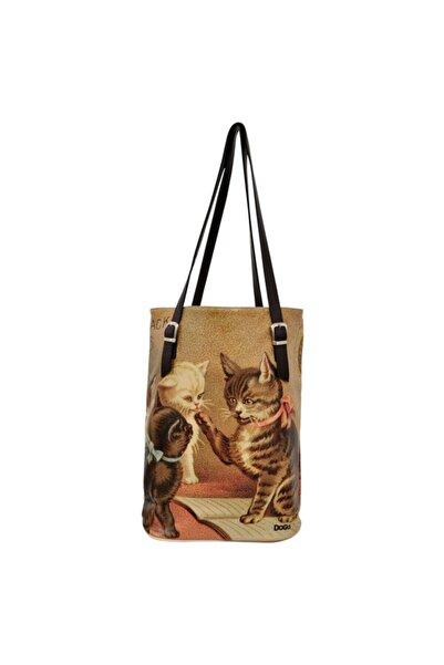 Dogo Cats Plan Kadın Çift Askılı Omuz Çantası