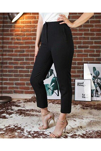The pantolon Biye Detaylı Siyah Renk Kadın Havuç Pantolon
