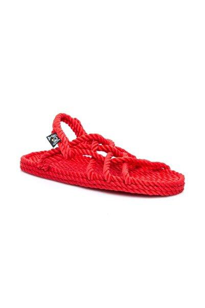 Nomadic State Of Mind Jc Hasır İp Sandalet Kırmızı