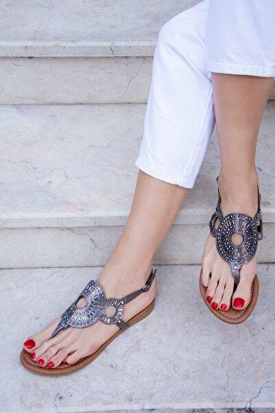 Fox Shoes Platin Kadın Sandalet H713011214