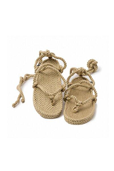Nomadic State Of Mind Kadın Romano Camel Hasır İp Sandalet