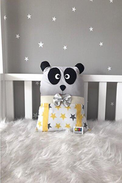 Jaju Baby Kidimoon Sarı Yıldız Panda Beşik Koruma Dekor Yastık