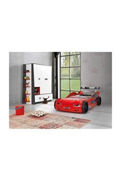 Süpers Arabalı Yatak Kırmızı