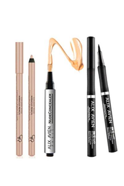 Alix Avien Göz Altı Kapatıcısı No 1 (açık Tenlilere Özel)fırçalı + Eyeliner Pen Kalem Eyeliner