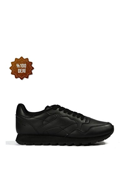 Hammer Jack Hakiki Deri Siyah Kadın Sneaker Ayakkabı 102 19265-G-1