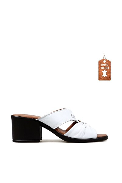 Hammer Jack Beyaz  Kadın Terlik Sandalet 450 21-Z