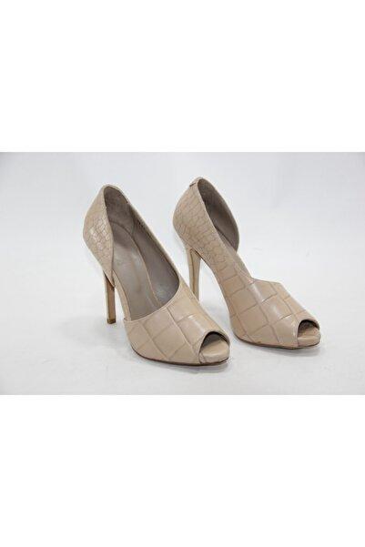 İnci Kadın Krem Hakiki Deri Topuklu Ayakkabı