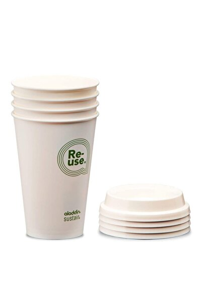 Aladdin Re-use Sustain Cup & Lid 0,35 lt 4lü Paket