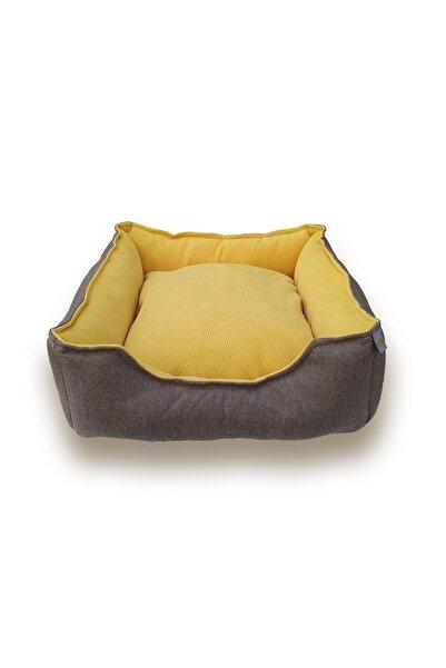 WODDY Lüx Kedi Ve Köpek Yatağı Sarı Renk 50 cm