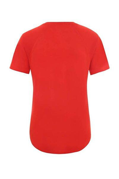 Graphic Play Hard Kadın T-Shirt Kırmızı
