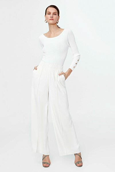 İpekyol Kadın Ekru Yüksek Bel Pantolon IS1200003182018