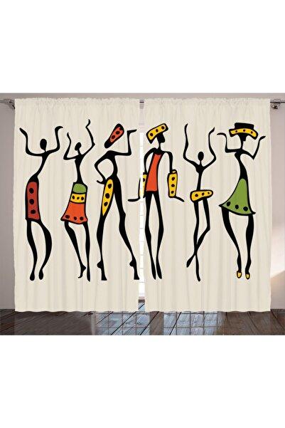 Orange Venue İnsanlar Perde Afrikalı Dansçı Kızlar