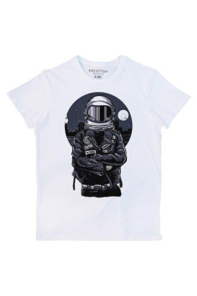 Presstish Nasa Biker Tasarım Baskılı Erkek Tişört