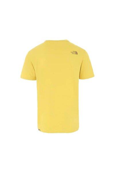 Mountain Line Erkek T-Shirt Sarı