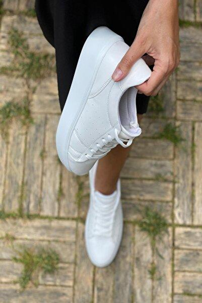 Beyaz Kadın Sneaker Y67