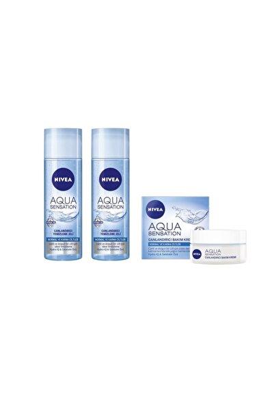 Nivea Aqua Sensation Canlandırıcı Temizleme Jeli 200 ml 2 Adet Aqua Sensation Canlandırıcı Krem 50 ml