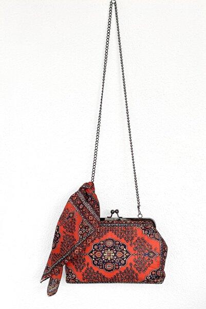 Hoorno Style Kadın Kadife Ve Renkli Omuz Abiye Çanta