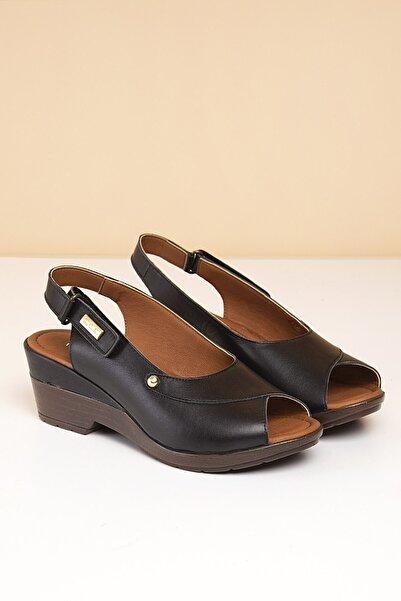Pierre Cardin Kadın Siyah Sandalet Pc-2433 - 2163-01
