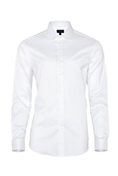 Beyaz Non Iron  Twill Tailor Fit Gömlek
