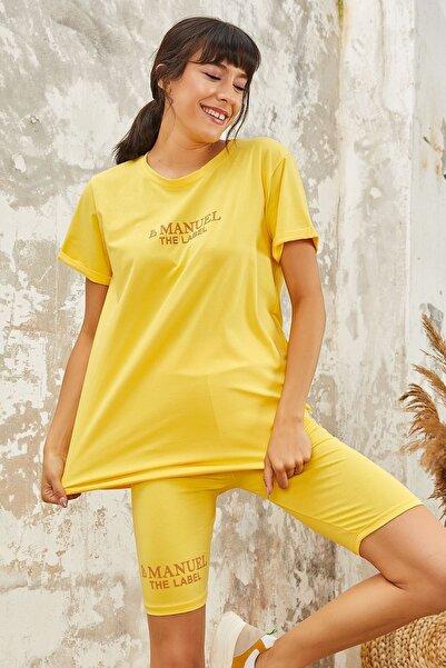 Vs257 Şortlu 2 Li Takım Sarı