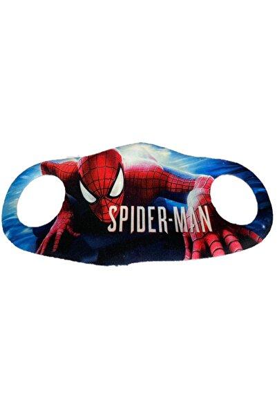 RoseRoi Çocuk Yüz Maskesi Desenli Yıkanabilir Koruyucu Spiderman Maske