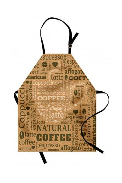 Orange Venue Soyut Mutfak Önlüğü Beyaz Kahve Fincanı