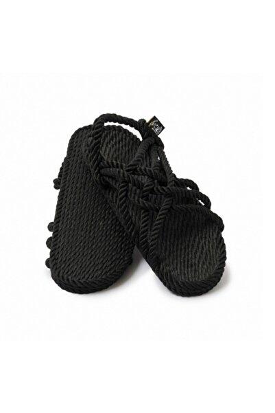 Nomadic State Of Mind Kadın Jc Hasır İp Sandalet Siyah