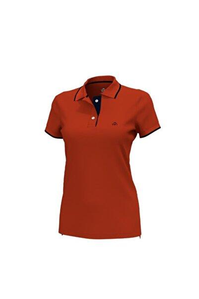 Woolnat Polo Yaka Pamuklu Kadın T-shirt
