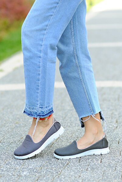 Pembe Potin Kadın Füme Ayakkabı