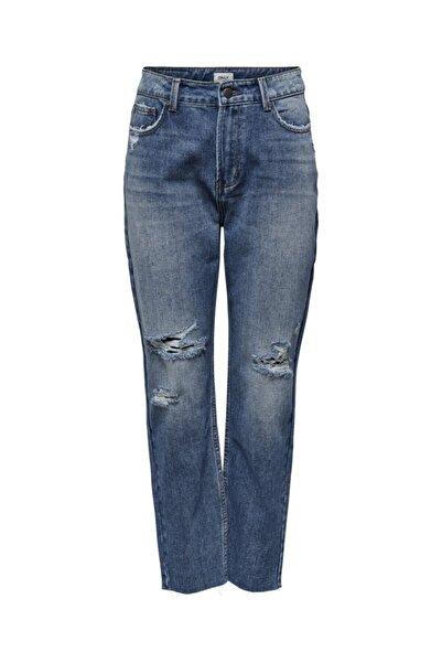 Only Kadın Denim Pantolon 20y 15200171 Onlemıly Lıfe Hw St Crp Ank Mae1904-2